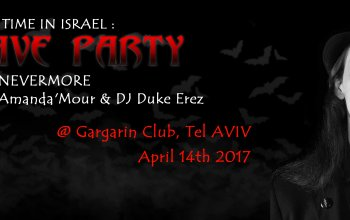 First batcave goth party in Israel Tel Aviv with DJ Lord Nevermore
